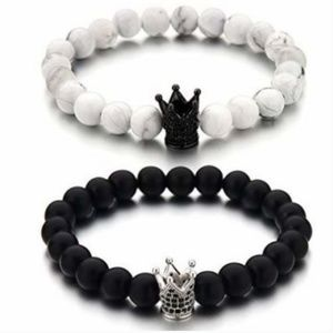 Jewelry - His & Hers Bracelets King & Queen Couples